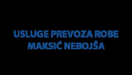 Usluge prevoza robe (kombi i kamion) Maksić Nebojša